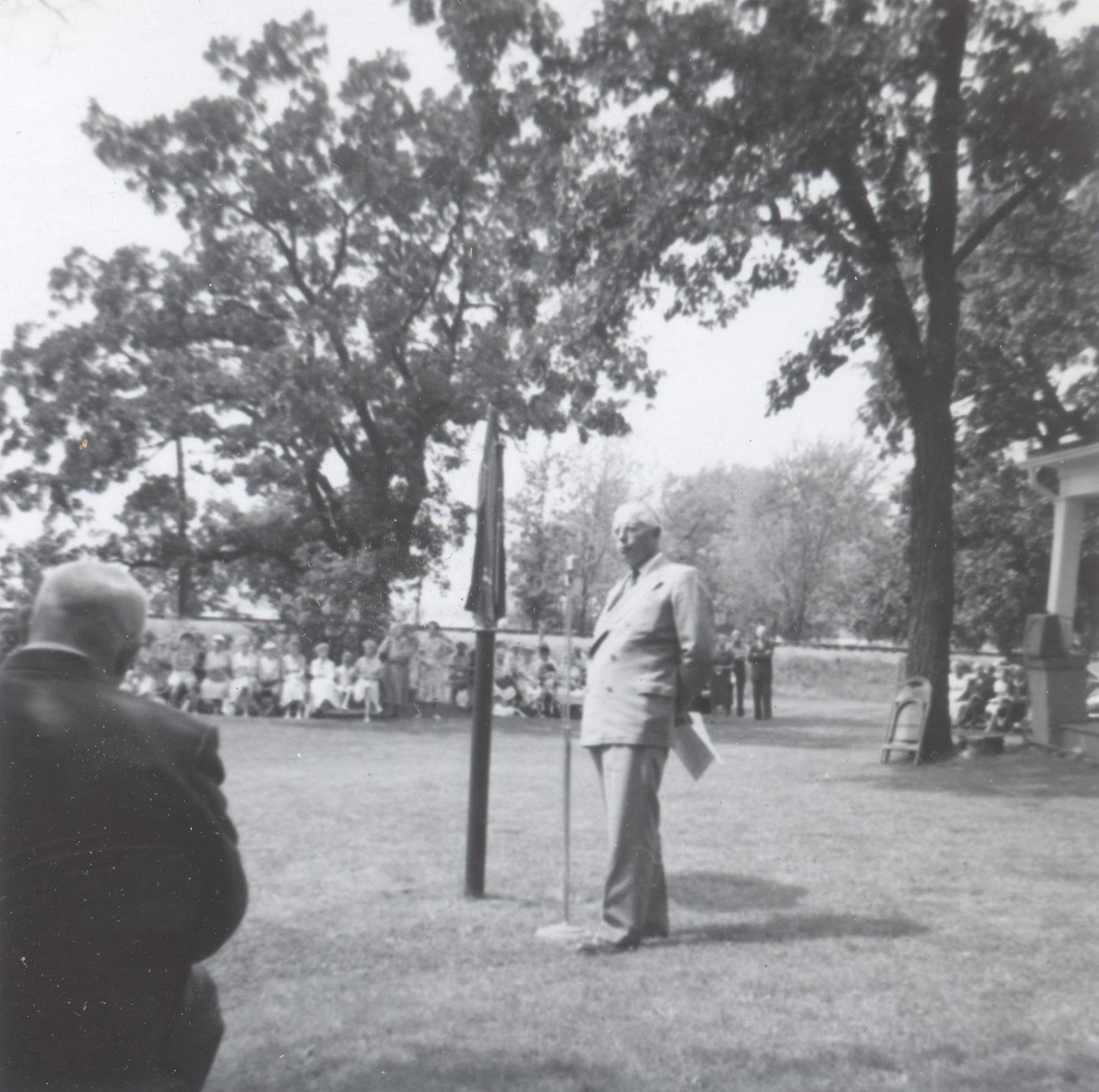 Premier Leslie Frost Designates Maryboro Lodge as a Historic Site, October 1959