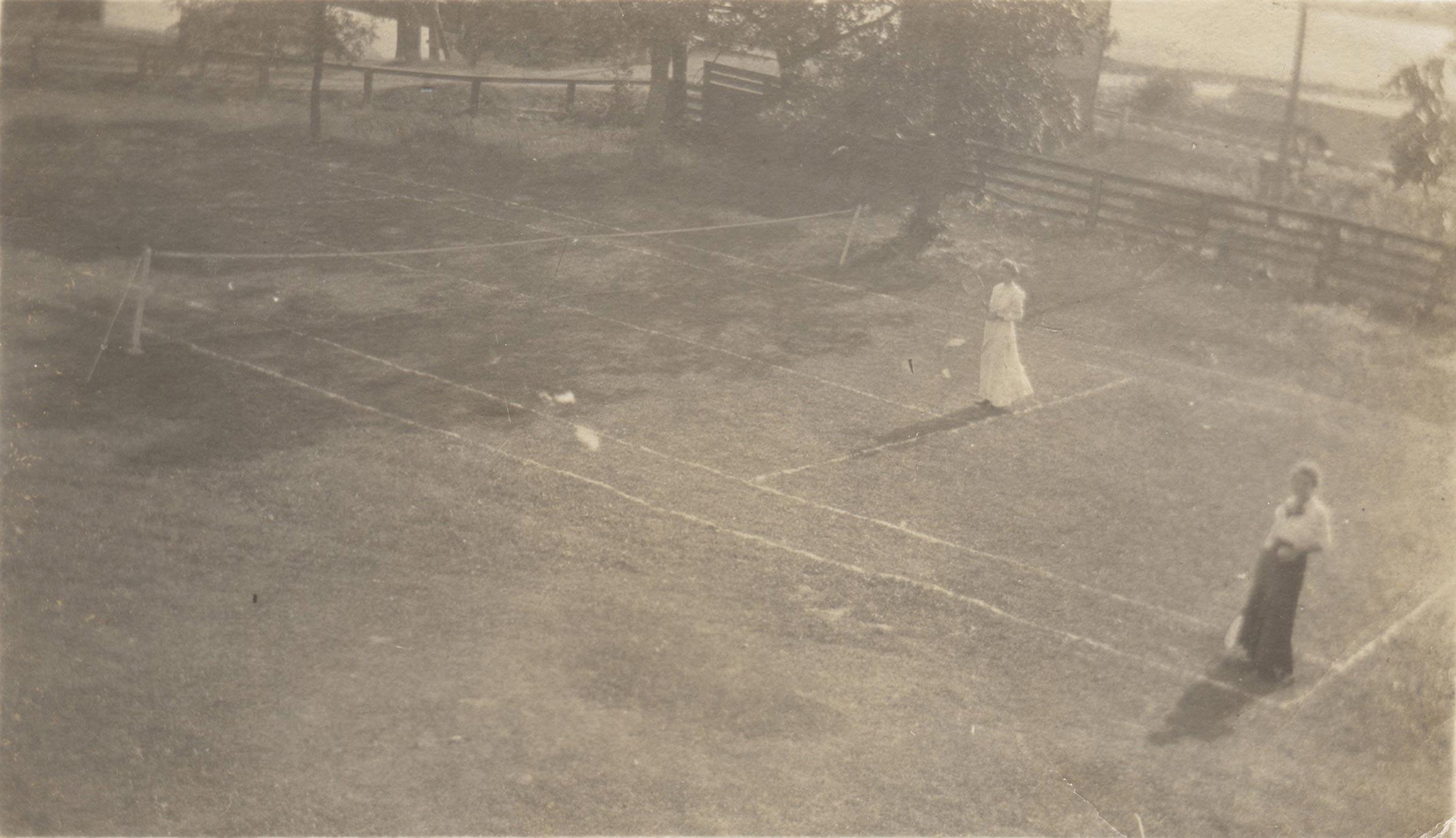 Grass Tennis Court at Maryboro Lodge